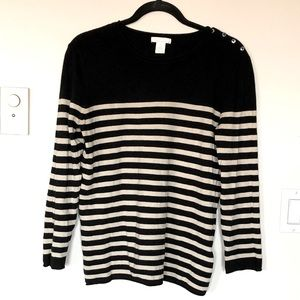 ✨3 for $30✨H&M light, striped, sweater